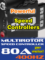 Multirotor powerful speed controllers