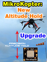 MikroKopter: Altitude-Hold upgrade