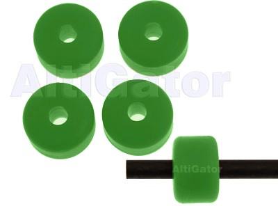 Landing skid pads - green - diam: 6.5mm