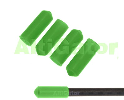 Landing skid caps - green