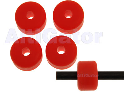 Coussinets pour patin d'atterrissage (⌀ 6.5mm) - orange fluo