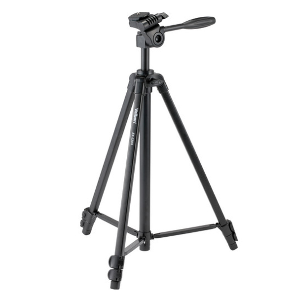 Compact tripod with built-in photo/movie head and bag - Velbon EX-330Q