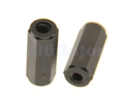 Bolt female/female M3x15 black (plastic)