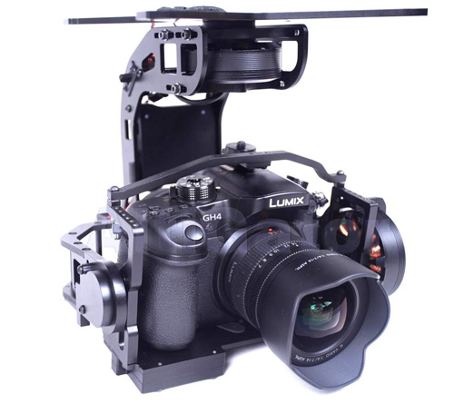 3 axis brushless camera gimbal for Panasonic GH4, SONY NEX - ready to use