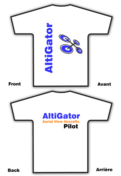 AltiGator PILOT T-Shirt white - Size: Medium