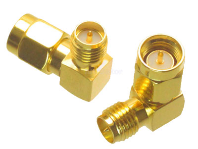 SMA male to SMA female angle adapter