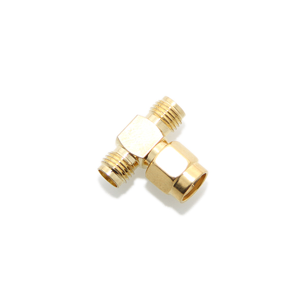 SMA male to 2 x SMA female T adapter