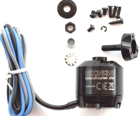 Motor MK3638 6mm - MikroKopter special 350W