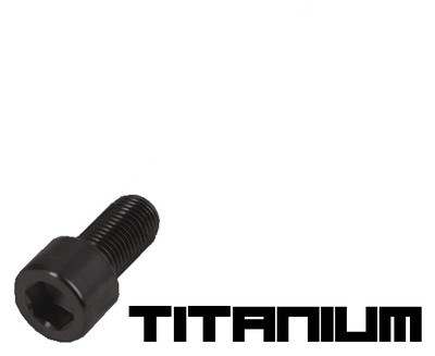 10 Black titanium screw M3x6