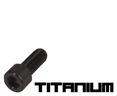 10 Black titanium screw M3x8
