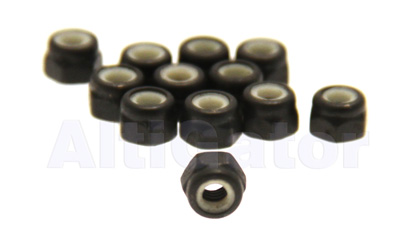 Black - INOX stop nuts M4