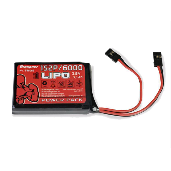 LiPo 6000mAh battery for MX-20 or MC-32 Graupner transmitter