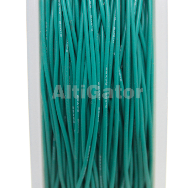 Silicone cable - 22AWG / 0.33mm² Green