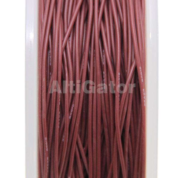 Silicone cable - 22AWG / 0.33mm2 Maroon