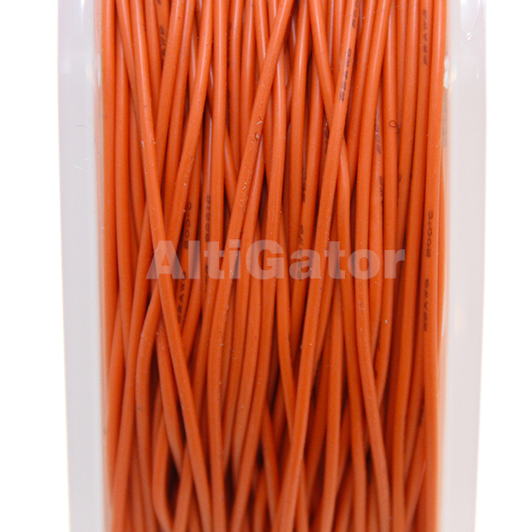 Câble en silicone - 22AWG / 0.33mm² Orange
