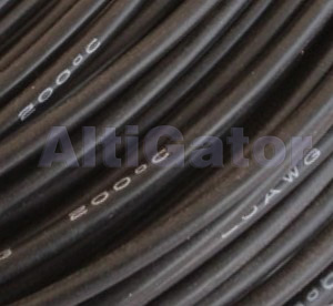 Silicone cable - 24AWG / 0.20mm² Black