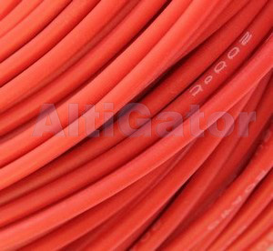 Silicone cable - 18AWG / 0.75mm2 Red
