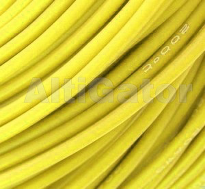 Silicone cable - 15AWG / 1.68mm2 Yellow