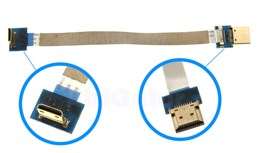 Soft & flat HDMI to mini HDMI angled cable